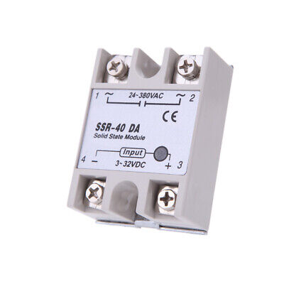 24v-380v 40a Ssr-40 Da Solid State Relay Module For Pid 3-32v Dc To Ac H8d1