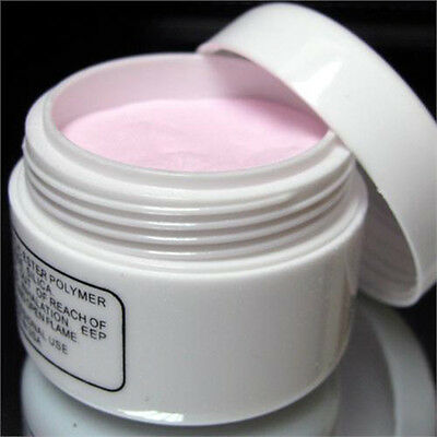 Pink Nail Art Tips Crystal Polymer Powder LW