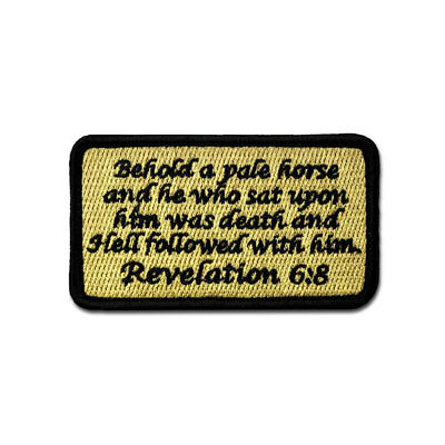Tactical Combat Morale Patch EMB Hook and Loop by BASTION - Revelation 6:8 ACU