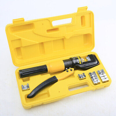 8 Tons Hydraulic Crimping Tool Battery Cable Lug Wire Terminal Crimper 8 Dies