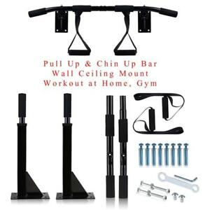 NEW Pull Up  Chin Up Bar - Wall Ceiling Mount - Workout at Home, Gym - Perfect for Upper Body, Wide Grip  Adjustable ...