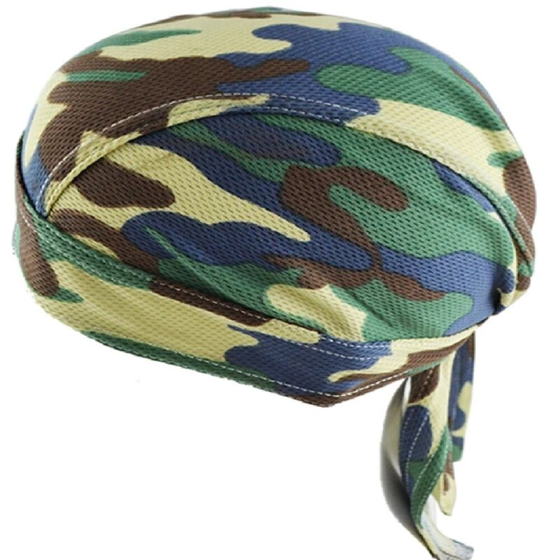 2nd amendment Camo Skull Head Wrap Durag Skull Cap Biker