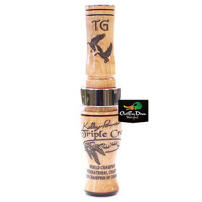 TIM GROUNDS KELLEY POWERS TRIPLE CROWN GOOSE CALL BIRDS EYE MAPLE WOOD