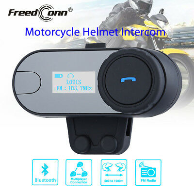 FreedConn TCOM-SC w/LCD Screen 2.4G Bluetooth Motorcycle Helmet Intercom Headset