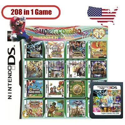 208 in 1 Video Games Cartridge Multicart For Nintendo DS NDS NDSL NDSI 2DS 3DS