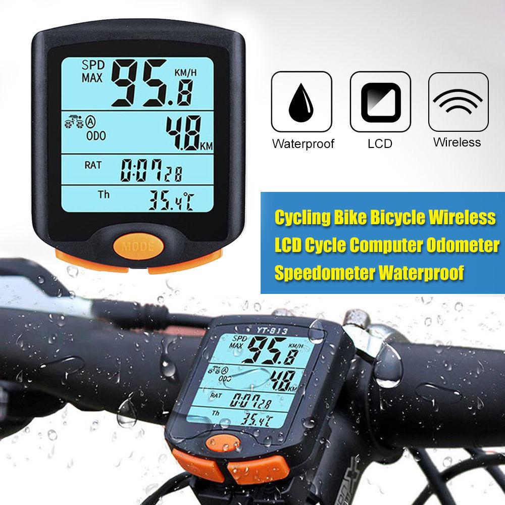 Fahrradcomputer Fahrradtacho Kilometerzähler Tachometer Kmh Mph Base NEU DE