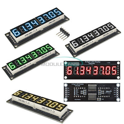 0.367-seg 8-digit Led Display 74hc595 Tube Module Whiteredyellowgreenblue