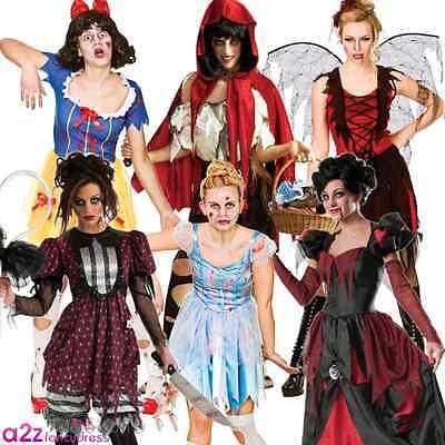 ADULT LADIES HALLOWEEN STORYBOOK PRINCESS ZOMBIE WOMENS FANCY DRESS - Halloween Costumes Zombie Princess