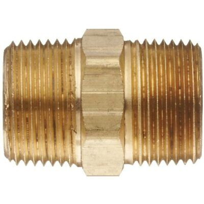 Brass Pipe Fitting, Hex Nipple, 1 quot Male Pipe, 06122-16 Industrial Fittings - $24.32