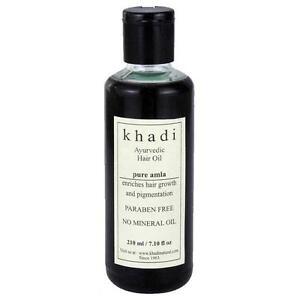 Khadi Ayurvedic Pure Amla Hair Oil (210 ml) PARABEN FREE- (FREE SHIPPING)
