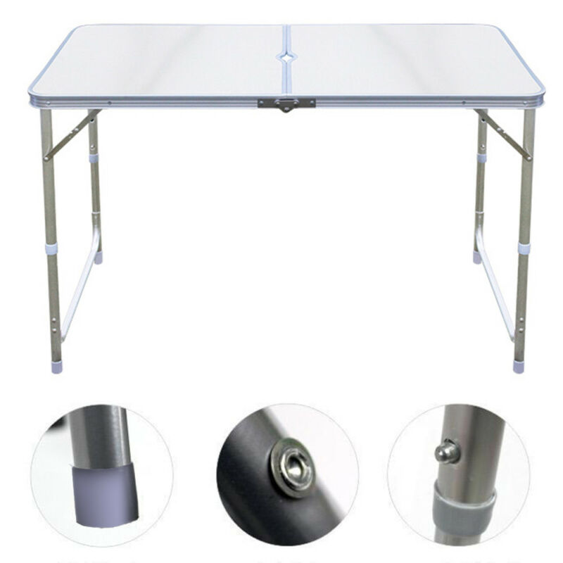 4ft 1.2m aluminum folding tables adjustable camping dinning outdoor