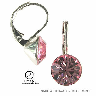 Ohrringe mit Swarovski Elements, Farbe: Rose Hell