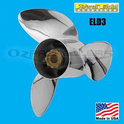 13.25 x 21 Yamaha Prop 50-140hp Power Tech ELD3 Propeller Stainless 3 Blade