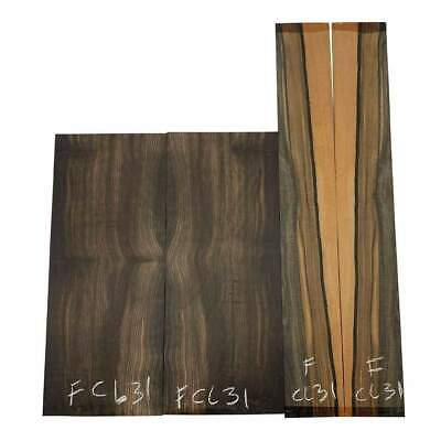 Figured Gaboon Ebony Guitar Back & Side Classical Set #FCL31 Luthier Tonewoods
