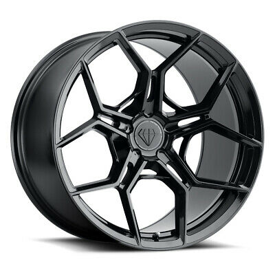 "20"" Blaque Diamond BD-F25 Black 20x9 20x10 Wheels Rims Fits BMW 5 Series xDrive"