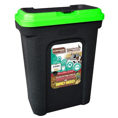 Kingfisher Wild Bird Pet Food Storage Container Lock Lid & Scoop 30L Happy Beaks