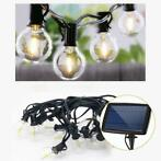 Solar prikkabel Chain met 25 warm witte led filament lampen