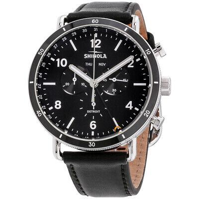 Shinola The Canfield Quartz Movement Black Dial Men's Watch S0120089889