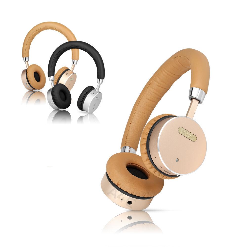 BÖHM Bluetooth Wireless Noise-Canceling On-Ear Headphones With Mic Bohm