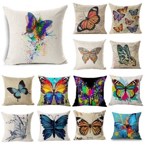 18 Ink Painting Butterfly Throw Pillow Case Sofa Car Cushion Cover Home Decor Ebay