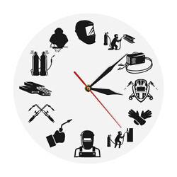 Weld Life Welder Quartz Wall Clock Argon Welding Printed Electric Worker Watch