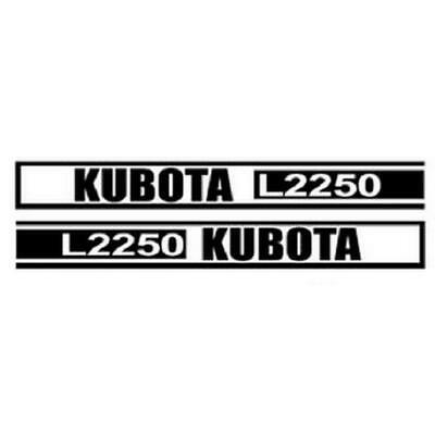 Kl2250 New Hood Decal Set Fits Kubota Tractor Model L2250