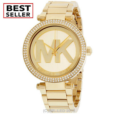 Brand New Michael Kors Womens Parker Mk5784 Gold Stainless Steel Fashion Watch