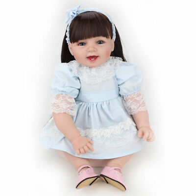 22'' Reborn Baby Doll Girl Newborn Soft Vinyl Silicone Toddler Birth Gift Toy US](Baby Doll Toys)
