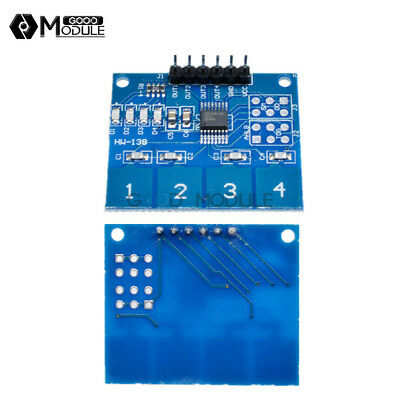 Ttp224 4- Channel Digital Touch Sensor Module Capacitive Touch Switch Button New