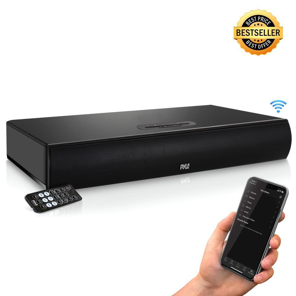 Pyle PSBV600BT Wave Base Bluetooth Tabletop Soundbar Digital