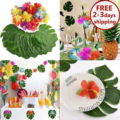 60 Table Decorations Supplies Moana Themed Party Tropical Luau Hawaiian Leaves - Hawaiian Themed Decorations