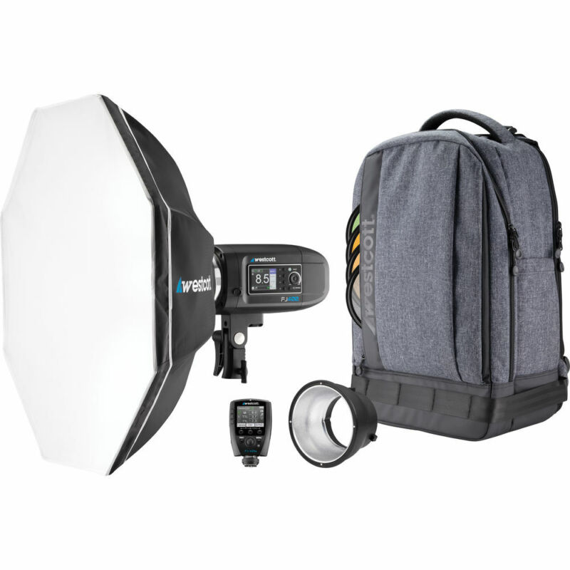 Westcott FJ400 Strobe 1-Light Backpack Kit with Universal Trigger and Octa-S