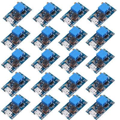 20pcs Mt3608 Micro Usb 2a Dc-dc Step Up Adjustable Boost Converter Power Module