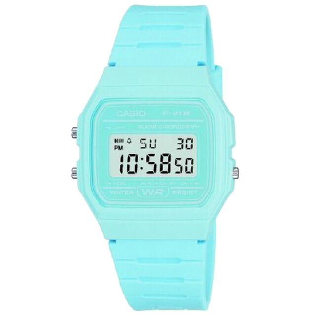 NEW RRP £20 Casio F-91WC-2AEF Mens Pastel Blue Digital Watch