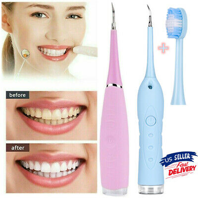Ultrasonic Dental Scaler Tooth Strong Cleaner Calculus Stain Remove Oral Care Us