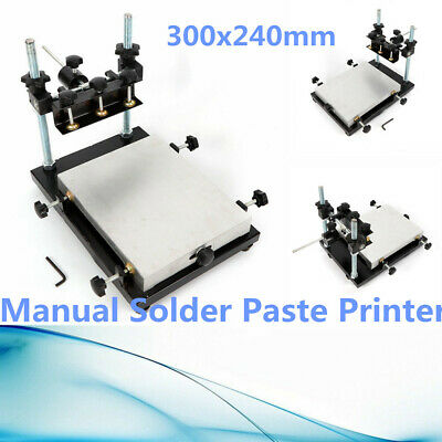 Manual Solder Paste Printerpcb Smt Stencil Printer Machine Size 300x240mm Top