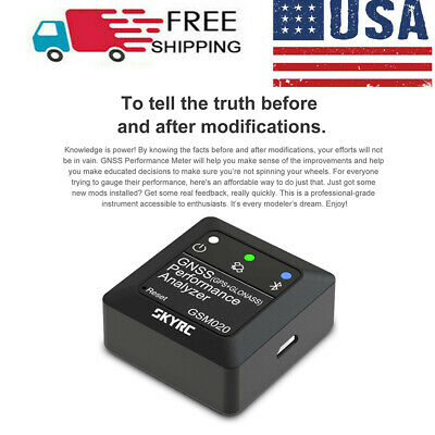 SKYRC GNSS GSM020 Performance Analyzer For RC Car Airplane Helicopter Drone USA