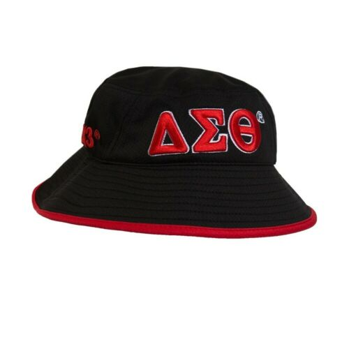Delta Sigma Theta Sorority Bucket Hat-Black/Red- Style 2-New!