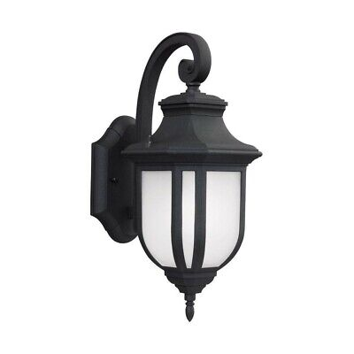 Title 24 Outdoor Lighting (Sea Gull Lighting 8636391S-12 Childress LED Title 24 Outdoor Wall Sconce - Black )