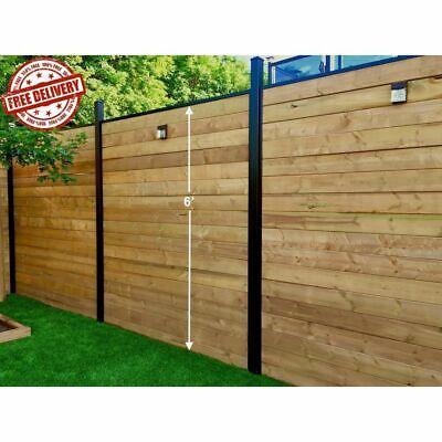 Black Aluminum Fence Rail 6 Ft. High Channel Kit Powder Coated Composite Fencing