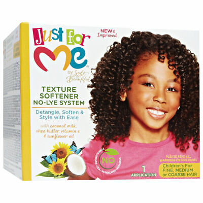 SOFT & BEAUTIFUL JUST FOR ME TEXTURE SOFTENER KIT FOR KIDS/AFRO HAIR CARE (Just For Me Soft And Beautiful Texture Softener)