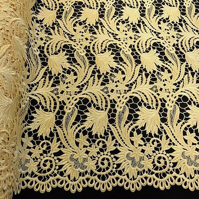 Daphne Guipure Venice French Lace Embroidery Fabric 52