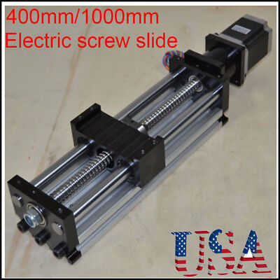 Stroke 400-1000mm Ball Screw Linear Cnc Slide Long Stage Actuator Stepper Motor
