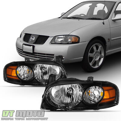 SE R Style Headlamps For 2004 2005 2006 Sentra All Model Headlights LeftRight