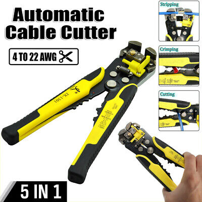Self-adjusting Wire Cutter Crimper Cable Strippers Pliers Hand Terminal 5in1