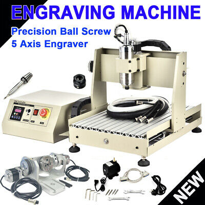 Usb 5axis 3040 Cnc Router Engraver 800w Vfd Metal Engraving Carving Mill Machine