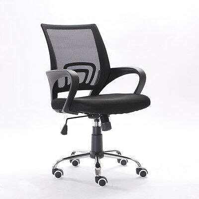 Ergonomic Mesh Office Chair Midback Adjustable Swivel Computer Desk Task Black