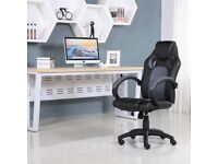 Brand New Gaming Sports Racing Office Leather Chair Black & Grey