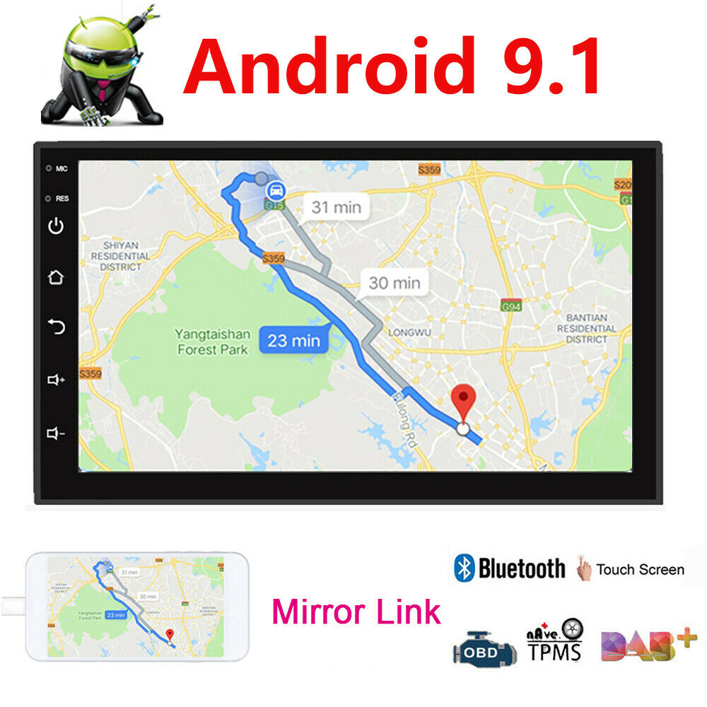 "Android 9.1 7"" inch Double 2 DIN Car MP5 Player Touch Screen"