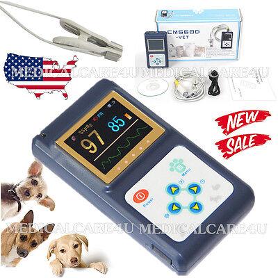 Us Veterinary Pulse Oximeter Vet Heart Rate Meter Tongue Spo2 Probeusb Software